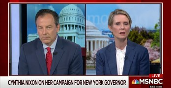 Cynthia Nixon shows how to answer Republican gotcha question on tax hikes on the rich & corporations (VIDEO)