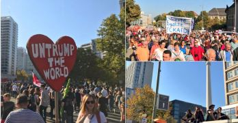 """""""UnTrump the World"""": Hundreds of Thousands March in Berlin Against the Far Right"""