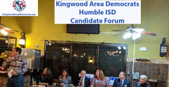 Kingwood Area Democrats 2019 Humble ISD Candidate Forum