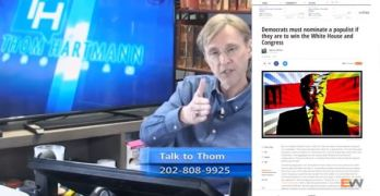 My latest Daily KOS article got a shout out on the Thom Hartmann Show on Free Speech TV