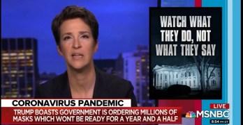 Rachel Maddow slam Trump's COVID-19 lies - cost lives YT