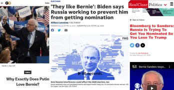 Media Stoop to 'Russian Assistance' to Explain Sanders' Rise