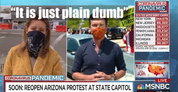MSNBC host on COVID-19 protests: It is just plain dumb.