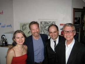With Bill Irwin, Mike Nichols & Emir Gamsizoglu after my graduation from New Actors Workshop