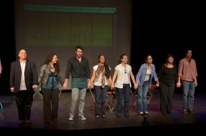 Curtain call for my play TEA for 3, January 2012