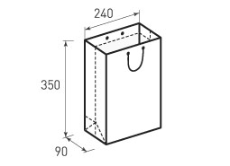 Вертикальный бумажный пакет В240x350x90
