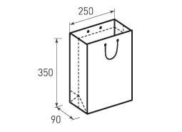 Вертикальный бумажный пакет В250x350x90