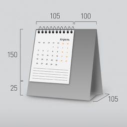 Модель NV-1. Вертикальный перекидной настольный календарь