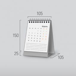 Модель NV-3. Вертикальный перекидной настольный календарь