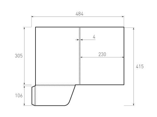 Штамп для вырубки папки фс 230x305x4. Привью 500x375 пикселов.