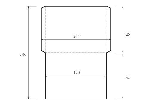 Горизонтальный конверт 190x143 без клапана