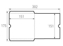 Квадратный конверт 151x151