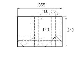Вертикальный бумажный пакет V100x190x70