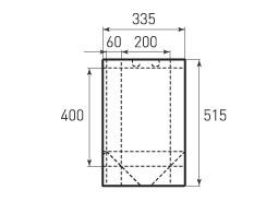 Вертикальный бумажный пакет V200x400x120