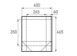 Вертикальный бумажный пакет V265x350x120