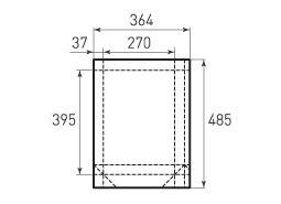 Вертикальный бумажный пакет V270x395x74