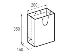 Вертикальный бумажный пакет V280x350x150