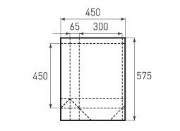 Вертикальный бумажный пакет V300x450x130