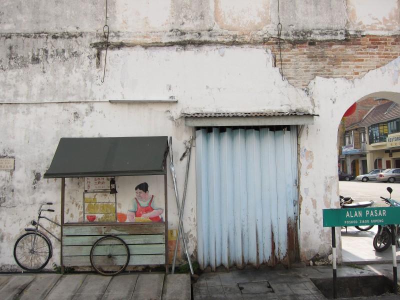 Street art in the alleyway