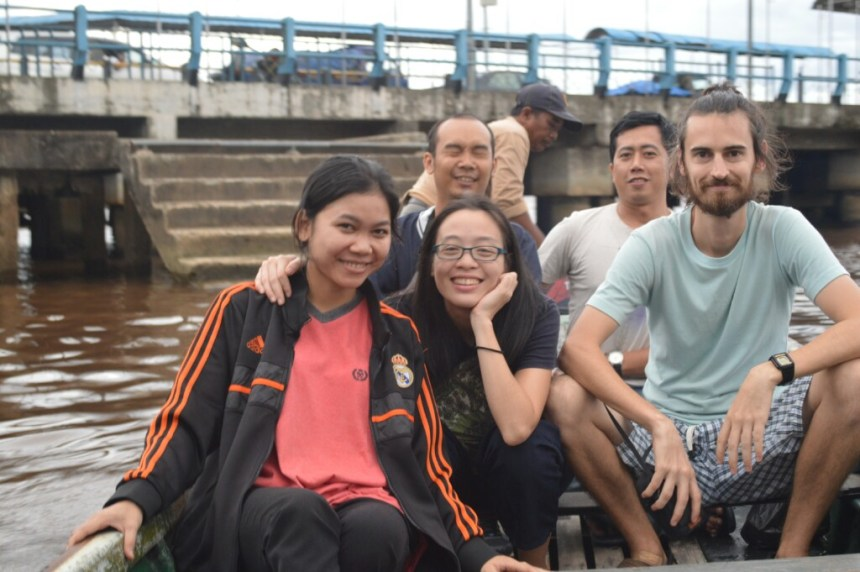 Friends in Pontianak on our boat ride