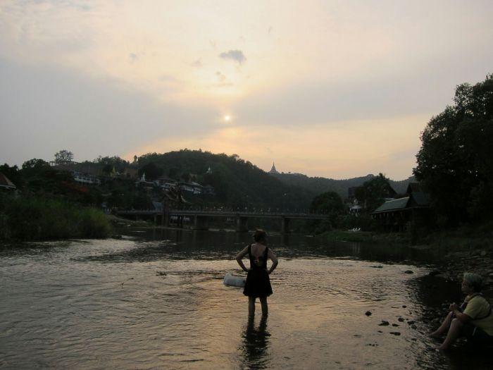 Sunset in Tha Ton