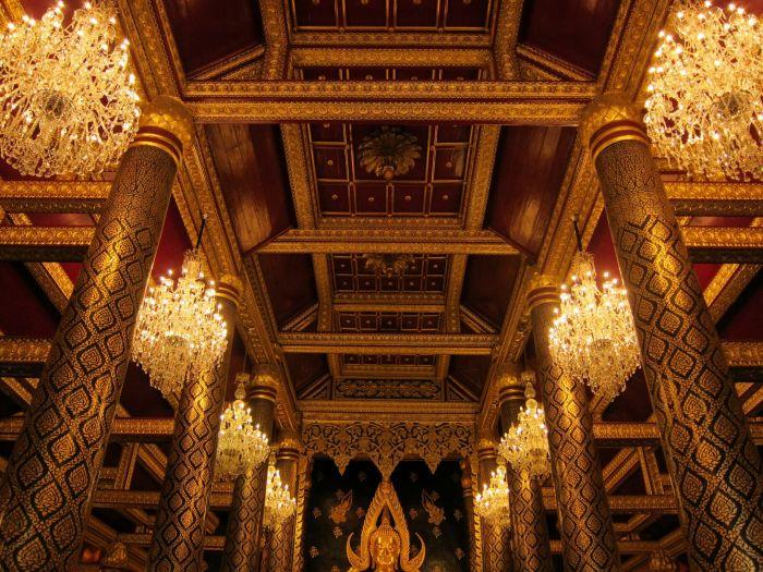 Inside Wat Phra Si Ratana Mahathat in Phitsanulok