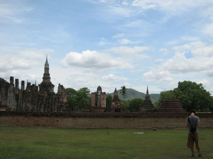 Wat Mahathat in Sukhothai, build around the 13th century
