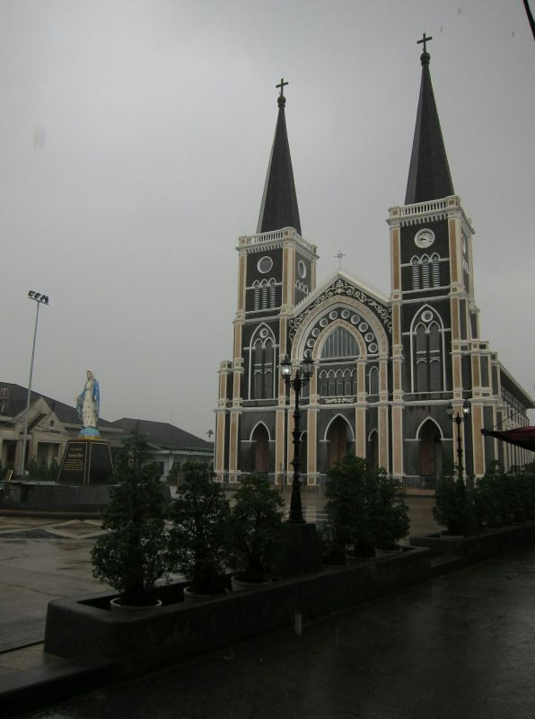 Are rare site in Thailand. Cathedral of the Immaculate Conception in Chanthaburi