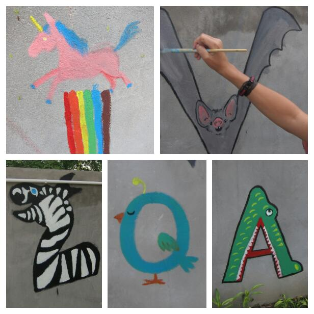 The letters that Caroline and I painted.