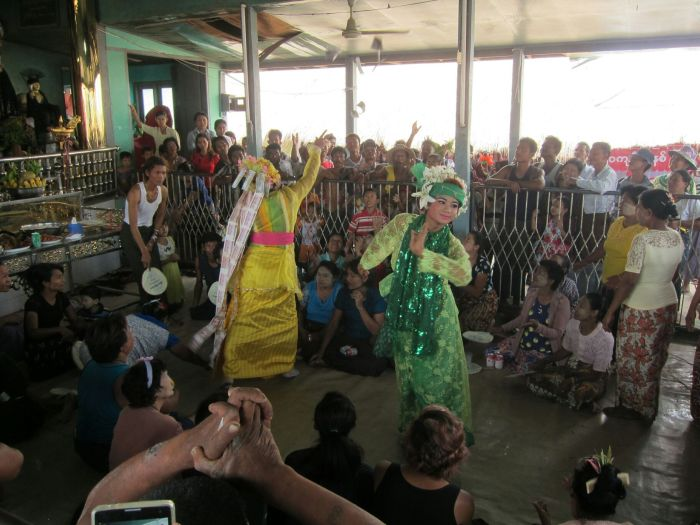 The dancing was performed to ear-splitting, traditional music.