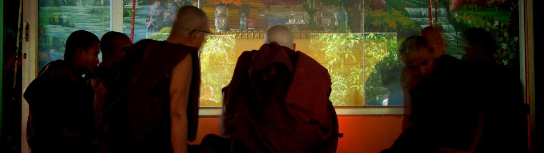 Felix becoming a monk at ThaBarWa Dhamma Centre, Yangon, Myanmar