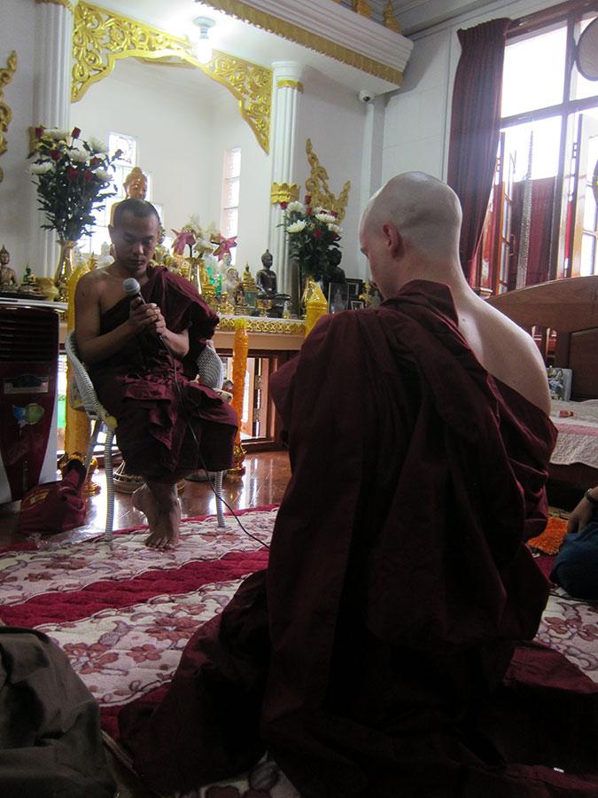 Monk Ordination, ThaBarWa Dhamma Centre, Yangon, Myanmar