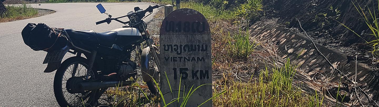 Crossing the bo y border, Laos to Vietnam, Attapeu to Kon Tum