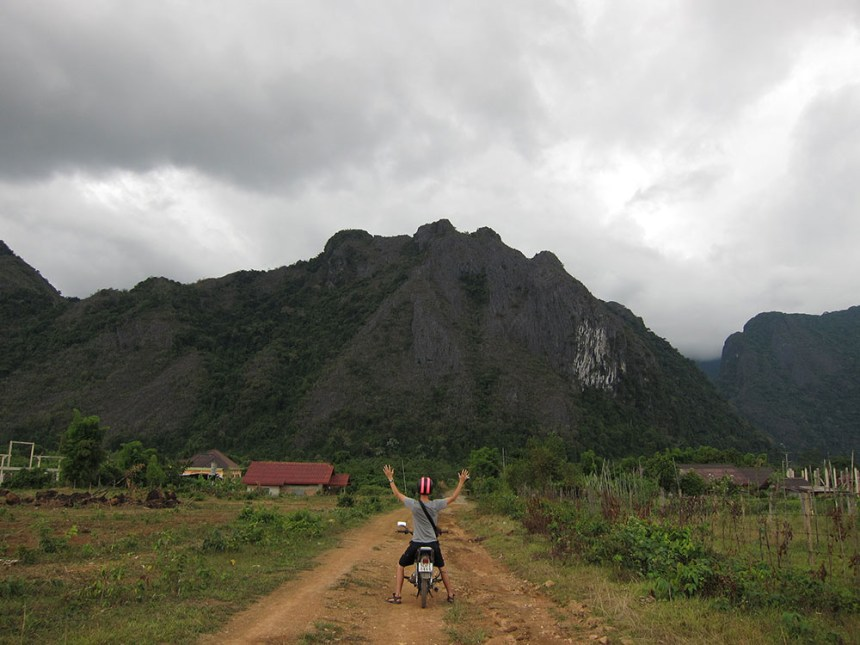 Motorcycle journey from Luang Prabang to Vientiane, Laos