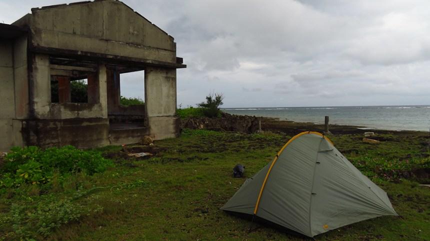 campsite ojima island, okinawa