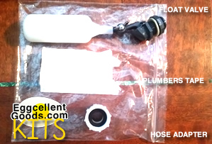 Float Valve & Hose Adapter Kit for auto-refilling chicken / poultry waterer