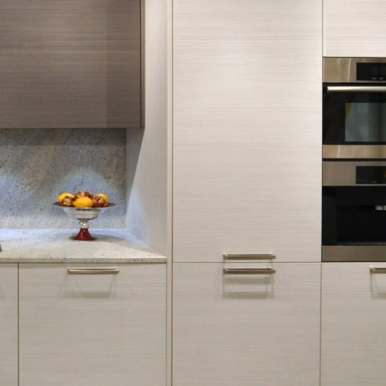high-end miele appliances featured in kitchen vignette featured in eggersmann florida german kitchen showroom in the DCOTA building