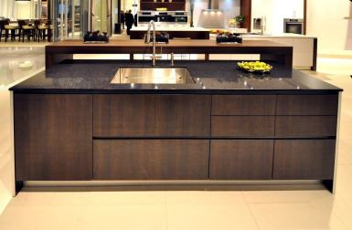 eggersmann cabinetry in torino trondheim finish with stainless steel sink
