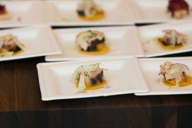 luxe east liberty grand opening food served