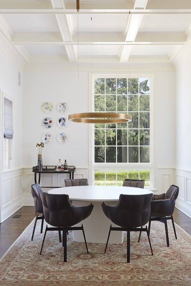 homey yet modern dining room remodel project featured in modern reduction in california home magazine
