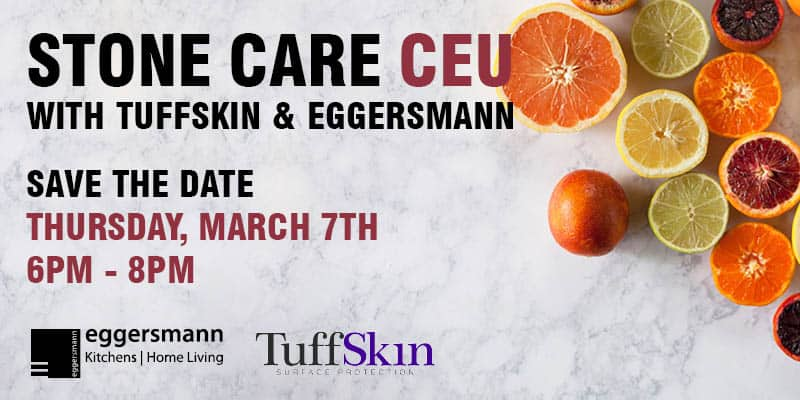 tuffskin event at eggersmann chicago will offer ceu credits to interior designers