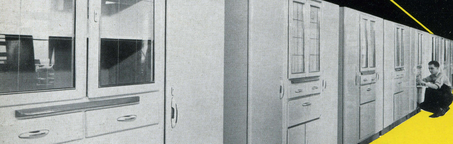 drawing of historical german cabinetry manufactured in the early days of eggersmann