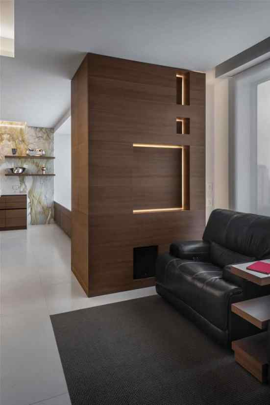hidden tv for modern living with extra luxury designed by eggersmann