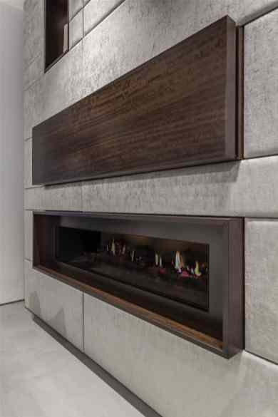 modern fireplace designed and installed by eggersmann