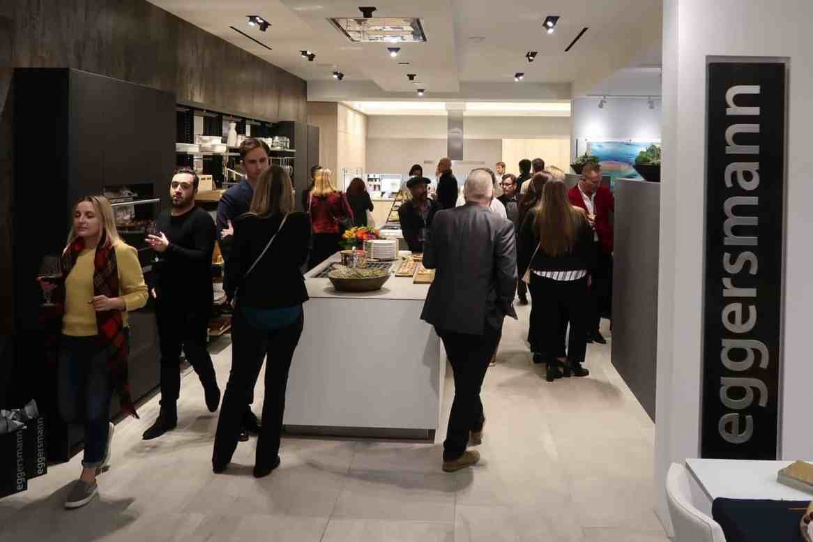 The eggersmann LA event sponsored by Cosentino was well attended