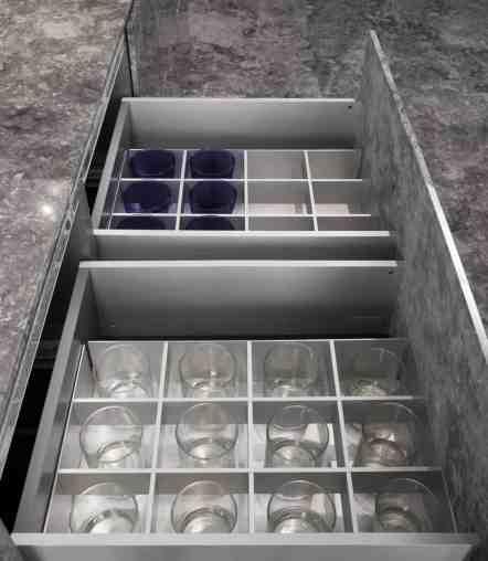 BoxTec - Aluminum glassware storage insert