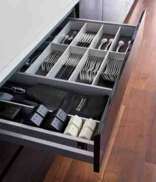 BoxTec - Aluminum cutlery insert and spice holders