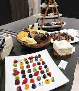 curated art exhibition at eggersmann dallas featured decadent treats by chocolate secrets