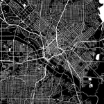 black and white map of dallas indicating location of an eggersmann showroom
