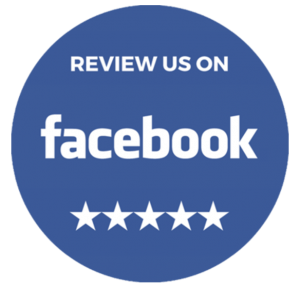 an icon to click to leave us a review on facebook